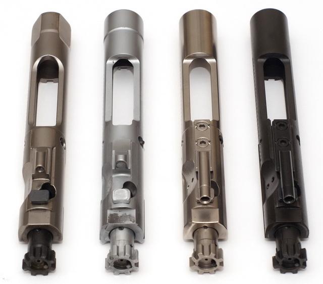 AR-15 bolts: NP3, Chrome, NiB-X, Phosphate