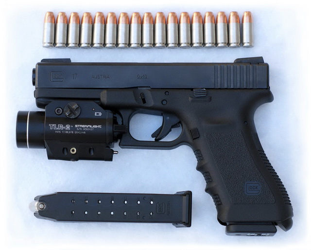 Glock 17 Gen 3 with TLR-2 laser+light