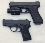 Glock 17 and Sig P239