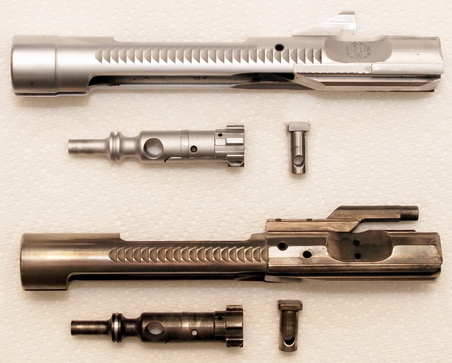 AR-15 bolts: Chrome and NiB-X, as clean as they get