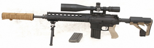 LaRue Tactical OBR with Nightforce F1 NXS and TBAC 30BA