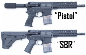 AR-15 Pistol and Short-Barreled Rifle (SBR) lowers