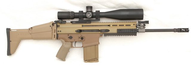 SCAR 17S FDE with MIAD grip and Nightforce 3-15x40mm scope