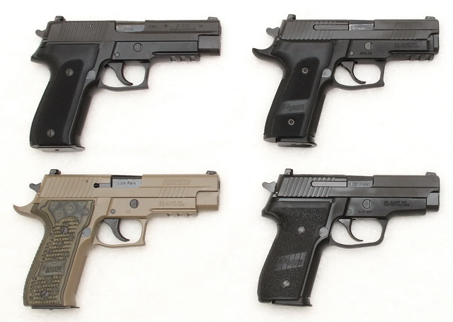 Sig P226 German, P229R Elite Dark, P226 Scorpion, M11-A1