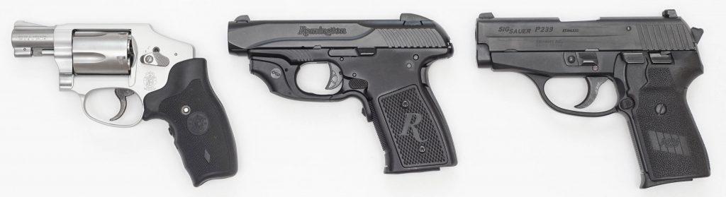 S&W 642, R51, Sig P239